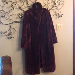 Terry Lewis Classic Luxuries Burgundy Faux Fur